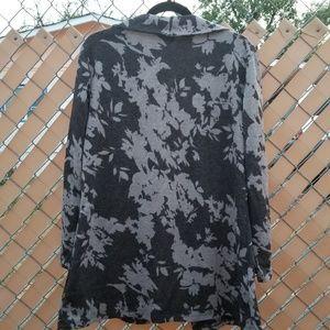 Dana Buchman Sweaters - Dana Buchman soft black/lavender cardigan coat